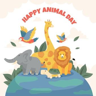 Illustration de la journée mondiale des animaux