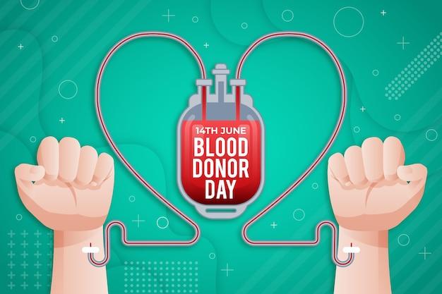 Illustration de la journée mondiale des donneurs de sang dégradé