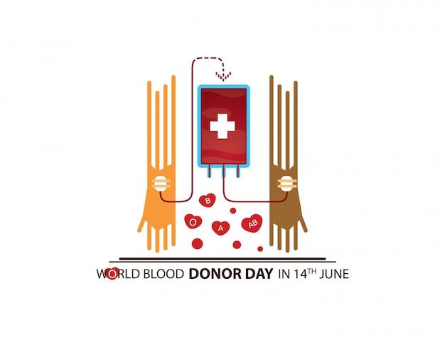 Illustration de la journée mondiale des donneurs de sang