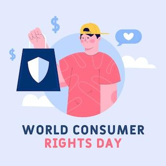 Illustration de la journée mondiale des droits des consommateurs