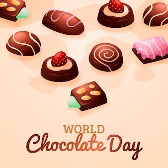 Illustration de la journée mondiale du chocolat dégradé