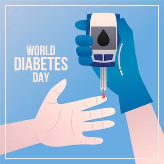 Illustration de la journée mondiale du diabète design plat