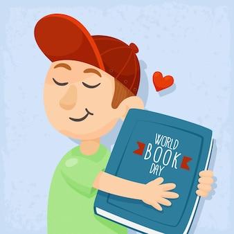Illustration de la journée mondiale du livre de dessin animé