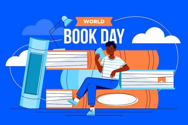 Illustration de la journée mondiale du livre dessinée à la main