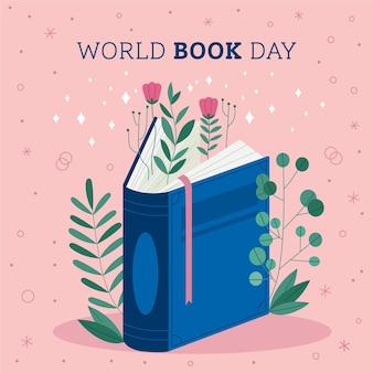 Illustration de la journée mondiale du livre avec livre