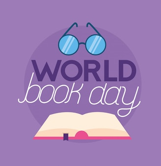 Illustration de la journée mondiale du livre