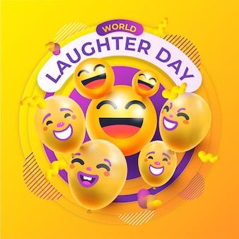 Illustration de la journée mondiale du rire réaliste