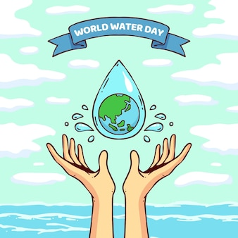 Illustration de la journée mondiale de l'eau