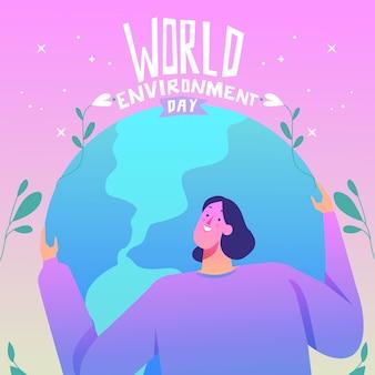 Illustration de la journée mondiale de l'environnement dégradé