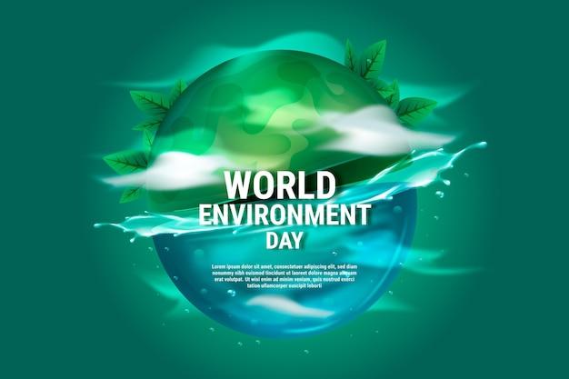 Illustration de la journée mondiale de l'environnement réaliste