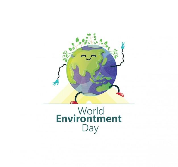 Illustration de la journée mondiale de l'environnement