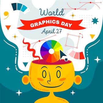 Illustration de la journée mondiale des graphiques dessinés à la main