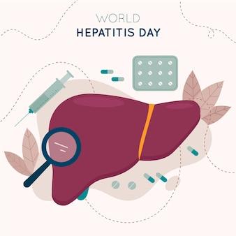 Illustration de la journée mondiale de l'hépatite