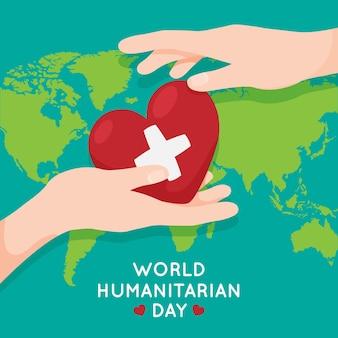 Illustration de la journée mondiale de l'humanitaire