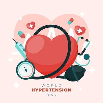 Illustration de la journée mondiale de l'hypertension artérielle
