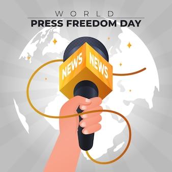 Illustration de la journée mondiale de la liberté de la presse dégradé