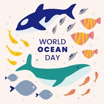 Illustration de la journée mondiale des océans