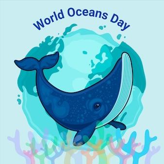 Illustration De La Journée Mondiale Des Océans Vecteur gratuit