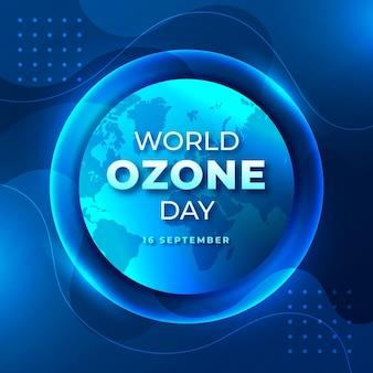 Illustration de la journée mondiale de l'ozone dégradé