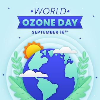 Illustration de la journée mondiale de l'ozone de style papier
