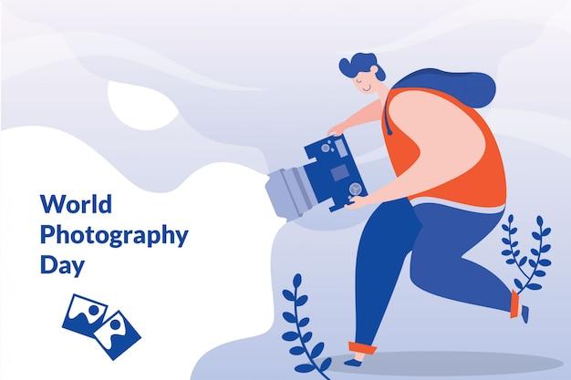 Illustration de la journée mondiale de la photographie