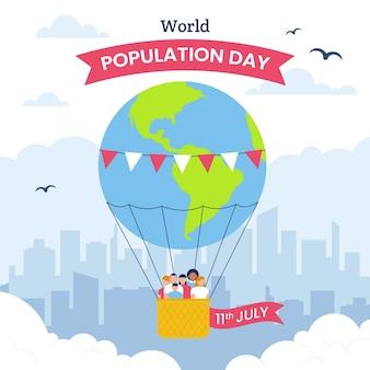 Illustration de la journée mondiale de la population