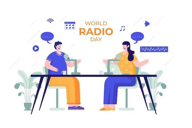 Illustration de la journée mondiale de la radio