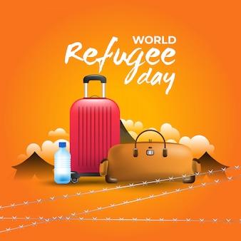 Illustration de la journée mondiale des réfugiés.