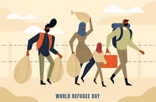 Illustration de la journée mondiale des réfugiés