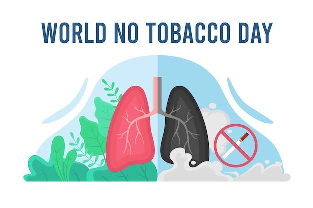 Illustration de la journée mondiale sans tabac dessinée à la main