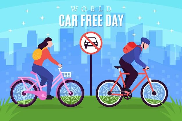 Illustration de la journée mondiale sans voiture