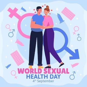 Illustration de la journée mondiale de la santé sexuelle
