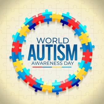 Illustration de la journée mondiale de sensibilisation à l'autisme réaliste