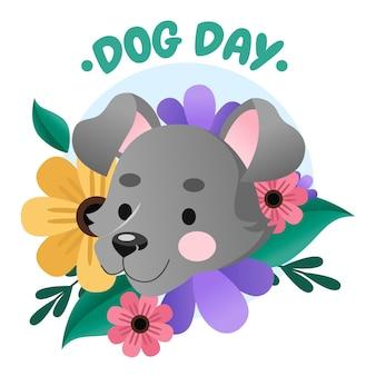 Illustration de la journée nationale du chien de dessin animé
