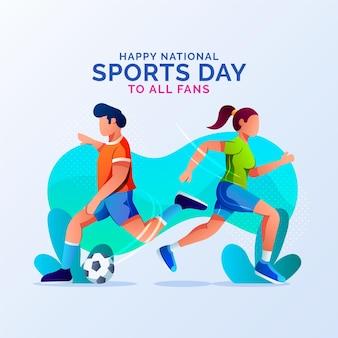 Illustration de la journée nationale du sport dégradé