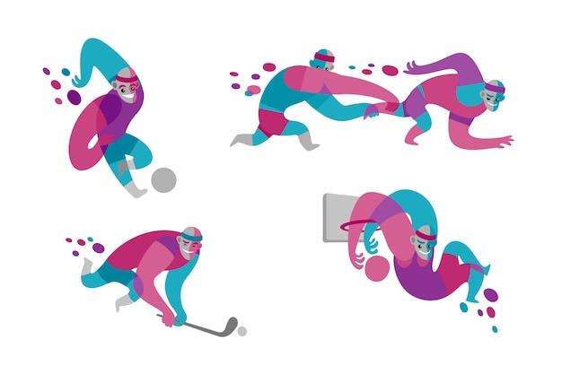 Illustration de la journée nationale du sport dessinée à la main
