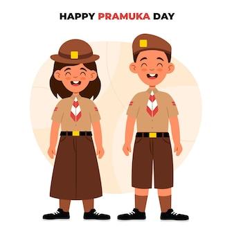 Illustration de la journée de pramuka