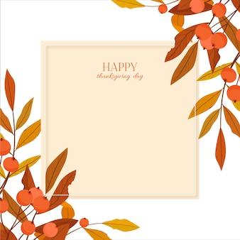 Illustration de joyeux jour de thanksgiving.