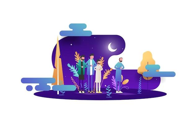 Illustration de joyeux ramadan mubarak
