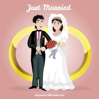 Illustration just married