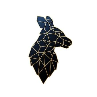 Illustration de kangourou géométrique de vecteur