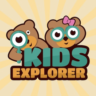 Illustration de kids explorer
