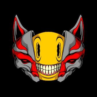 Illustration de kitsune emoji