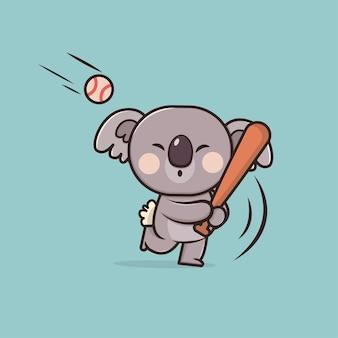 Illustration de koala animal mignon
