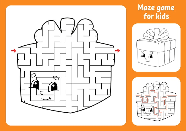 Illustration de labyrinthe abstrait