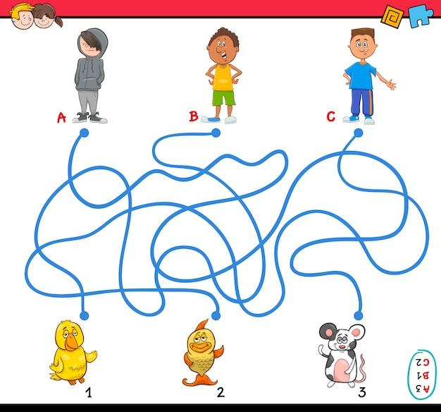 Illustration de labyrinthe de chemin