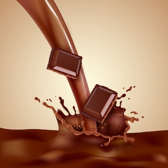 Illustration de lait au chocolat