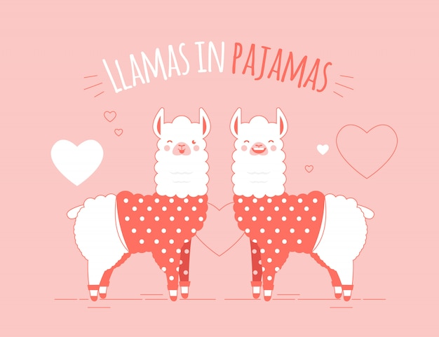Illustration de lamas