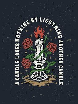 Illustration de lanterne romantique vintage