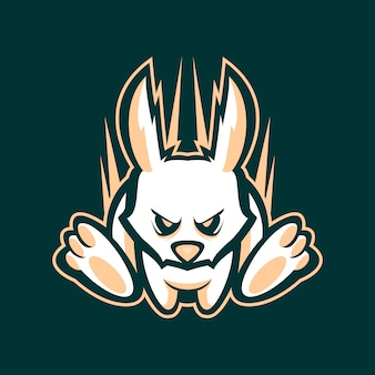 Illustration de lapin en cours d'exécution